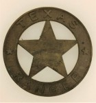 Vintage United States TEXAS RANGER metal badge- NO PIN  Western collectable.