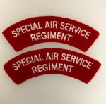 Australian 'Special Air Service Regiment' S.A.S. cloth shoulder titles. PAIR.