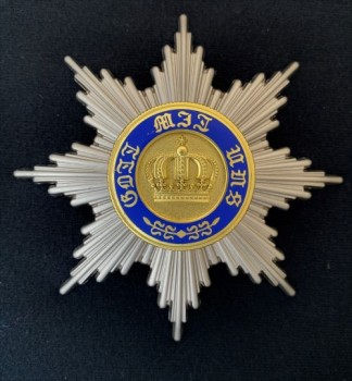 Prussian Order of the Crown Breast Star .