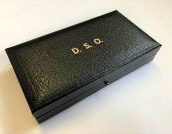 Presentation case for the British Distinguished Service Order.
