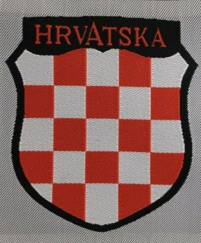 Wehrmacht HRVATSKA Croatian Foreign Volunteers cloth sleeve shield insignia.