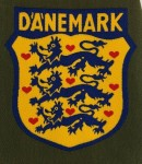 Wehrmacht DANEMARK Danish Foreign Volunteer cloth sleeve shield insignia.