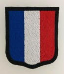 Waffen S.S. French Foreign Volunteers cloth sleeve shield insignia.