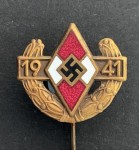 Hitler youth Pin of the German youth for 1941 - Gilt grade.
