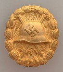 SPANISH CIVIL WAR WOUND BADGE- GOLD GRADE: SOLID TYPE. SUPERIOR QUALITY.