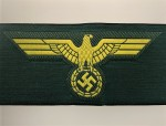Marine Artillery enlisted mams silk woven or 'Be-vo' cloth breast eagle.