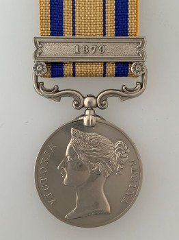 British South Africa Zulu War medal with 1879 Bar.