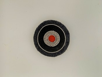 German Army or Heer Officers hand embroidered cap cockade FIELD GREY