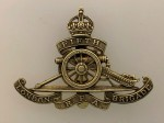 5th London Brigade RFA brass cap badge ANTIQUED.