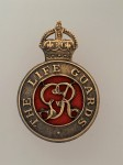 Life Guards metal cap badge ANTIQUED.