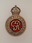 2nd Life Guards metal cap badge  ANTIQUED.