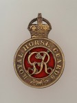 Royal Horse Guards metal cap badge ANTIQUED.
