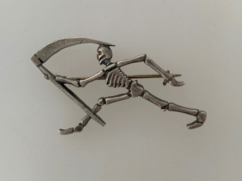 WWI French Air Force 'Grim Reaper'  Escadrille Badge of SPA 95.
