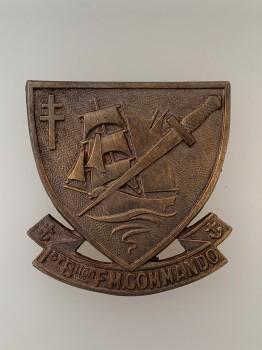 WW2 WWII Free French 1er Battalion Marine Commando beret badge.