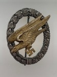 Luftwaffe Paratrooper's  breast badge Assmann EXCEPTIONAL AGED FINISH