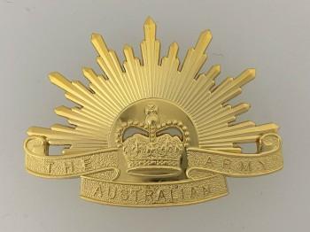 Australian Army Metal Beret Cap Badge Rising Sun Design