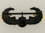 U.S. Army Air Assault Gunship metal wings. Full size BLACK SUBDUED FINISH