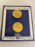 U.S. Army Special Forces Enlisted Mans Brass Collar Discs  PAIR
