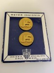 U.S. Army Enlisted Mans Brass Collar Discs 'U.S.' Badges PAIR