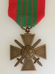 French WWII  Croix de Guerre with Flags - Giraud type