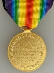 South African WWI VICTORY MEDAL with ribbon. Full size